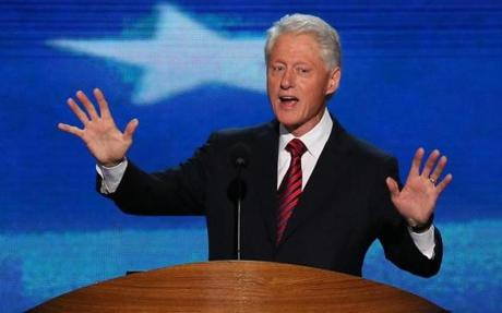 Bill Clinton giving his famous speech.