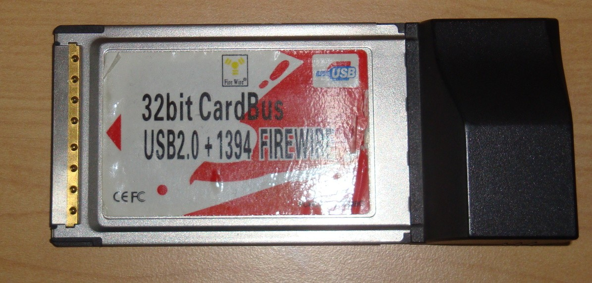 PCMCIA to USB / Firewire card that is now broken.