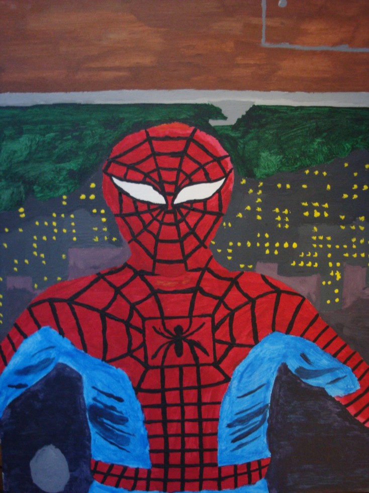 A painting of Spider-Man that I made.
