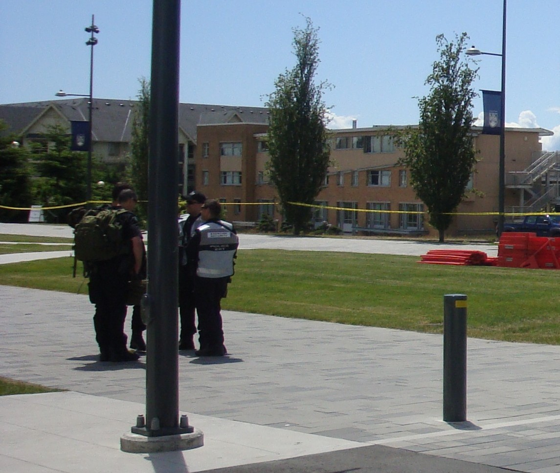 RCMP officers at UBC.